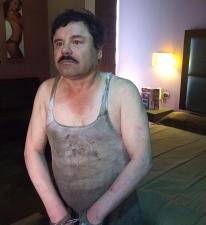 El Chapo, tras ser detenido.