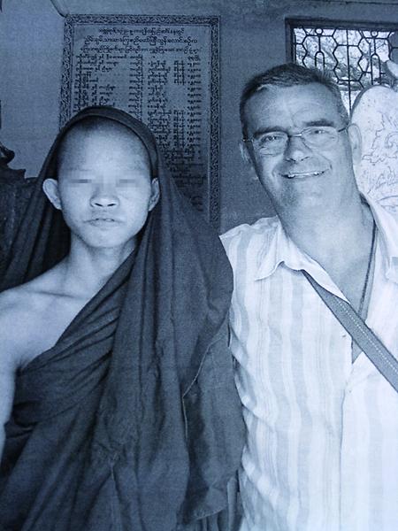 Francisco Pellicer durante un viaje a Camboya.