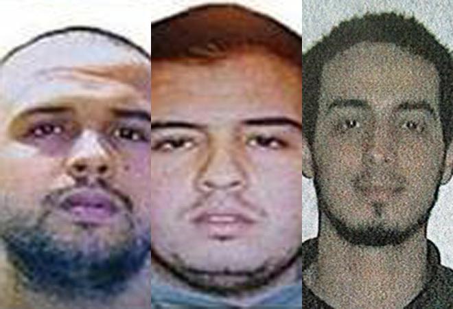 Khalid El Bakraoui, Ibrahim El Bakraoui y Najim Laachraoui.